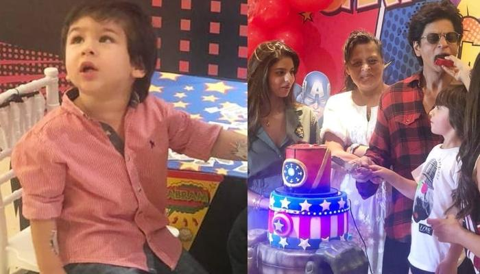 Taimur Ali Khan Gets A Temporary Tattoo At Shah Rukh Khan's Son, AbRam Khan's Birthday Bash