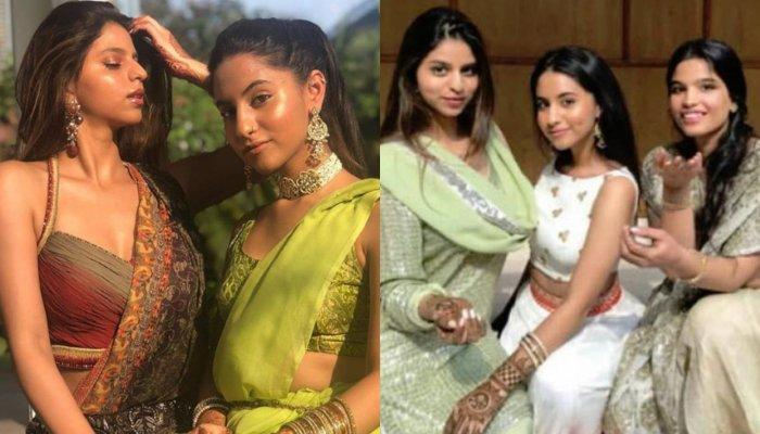 Suhana Khan Is A Sight To Behold In A Halter-Neck Blouse And Saree At A Family Wedding [Pictures]