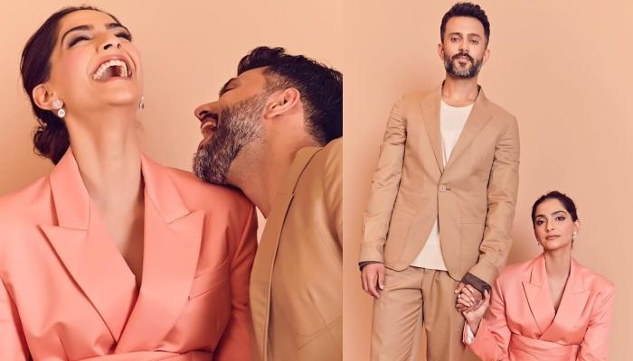 Sonam Kapoor Ahuja Twins With Beau, Anand Ahuja In Trending Summer Pantsuit