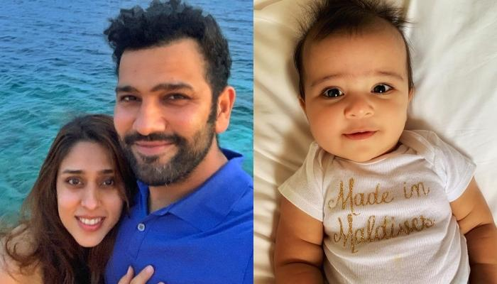 Rohit Sharma And Ritika Sajdeh's Daughter Was Made In Maldives, Baby S Flaunts It On Her Onesie
