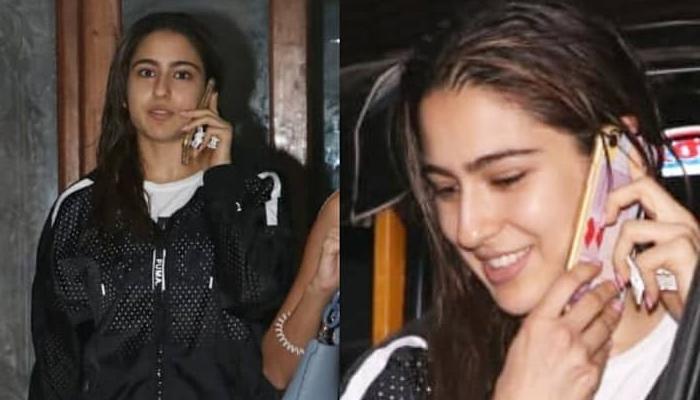 Sara Ali Khan Can't Stop Smiling While Talking On Phone, Fans Wonder If Kartik Aaryan Is The Reason