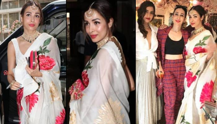 Malaika Arora Trolled For Wearing Saree Like A 'Sanskari Bahu' At Sonam Kapoor Ahuja's Birthday Bash