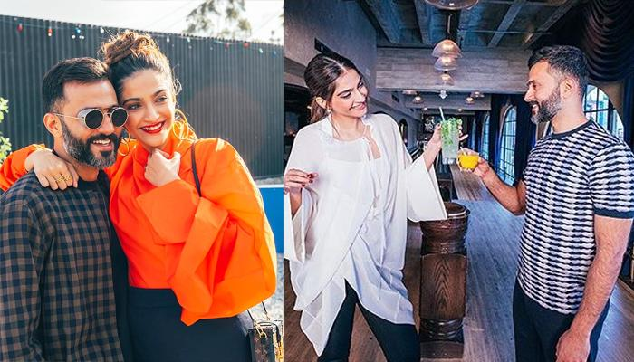 Anand Sonam Ahuja Surprises Sonam Kapoor Ahuja On Her Sets, She Couldn't Stop Blushing, Pic Inside