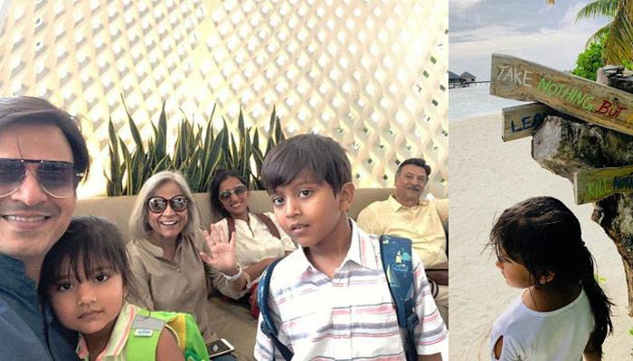 Vivek Oberoi Is Enjoying Family Time With His Parents, Wife And Kids In Maldives (Pictures Inside)