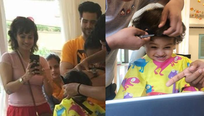 Karan Mehra's Son, Kavish Gets His First Cut Before He Turns Two, And Looks Like A Perfect Gentleman