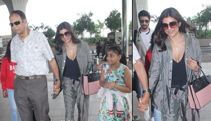 Sushmita Sen Leaves With Beau Rohman Shawl And Family For Rajeev Sen And Charu Asopa's Goa Wedding