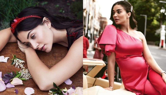Amy Jackson Looks Like Sunshine In Yellow As She Poses With Her Baby Bump In A Flower-Filled Bathtub