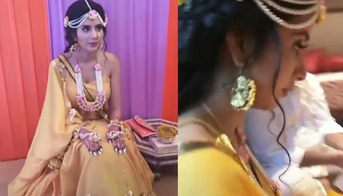 Charu Asopa's First Pictures From Her Haldi Ceremony Out, Aces Her Bridal Glow In A Yellow Lehenga
