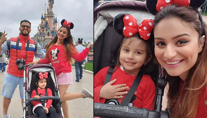 Dimpy Ganguly And Hubby Rohit Roy Take Daughter, Reanna To Disneyland For 3rd Birthday Celebrations