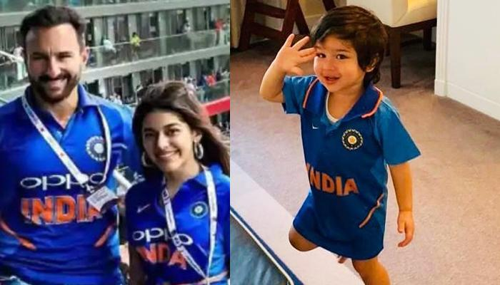 Taimur Ali Khan Cheered For India After Win Against Pakistan, Papa Saif Cheered In The Stadium