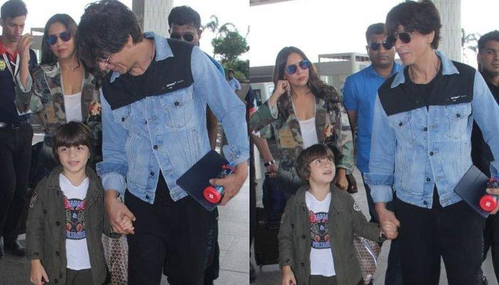 AbRam Khan Leaves For A Kids Summit In London With Parents, Shah Rukh Khan, Gauri Khan, Looks Dapper