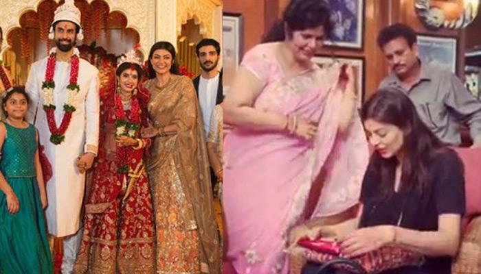 Sushmita Sen Gets 'Shaadi Ka Joda' From 'Bhabhi' Charu Asopa's Mom After The Wedding, Video Inside