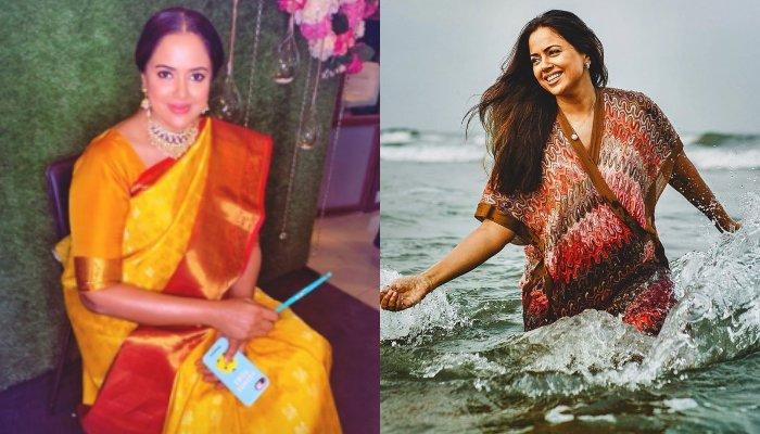 42769141bb020 Sameera Reddy Looks Beautiful In Traditional Kanjeevaram Saree At Her Godh  Bharai, Does A Photoshoot