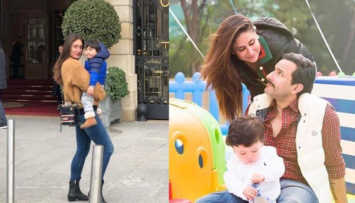 Taimur Ali Khan Relaxes In Stroller While Checking Phone As Kareena Takes Him For A Round In London