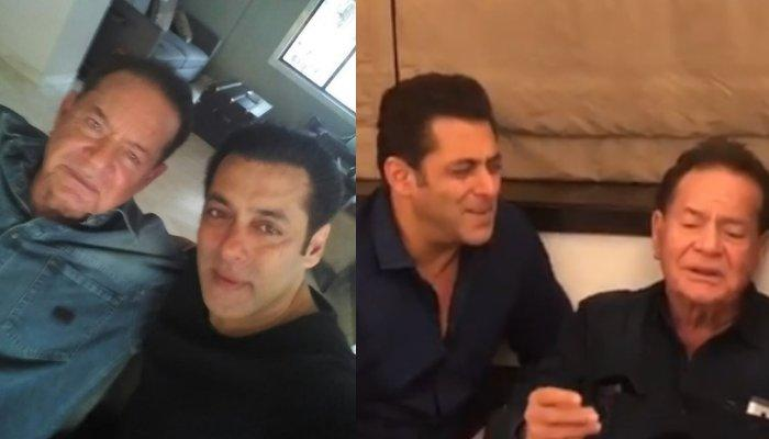 Salman Khan Joins Dad, Salim Khan As They Sing 'Suhani Raat Dhal Chuki' In Their Melodious Best