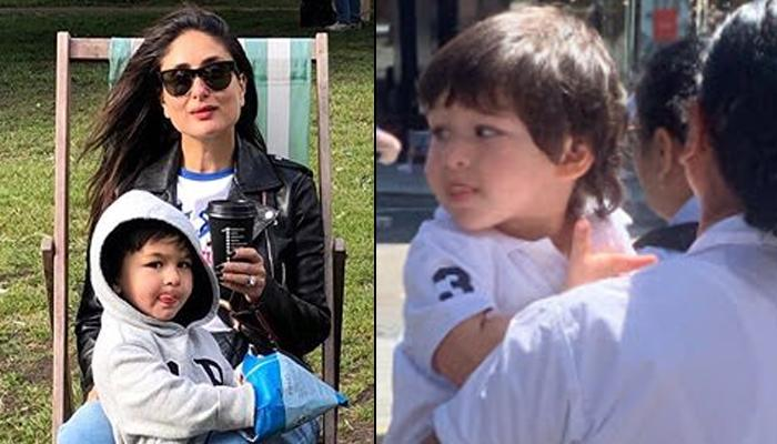 Taimur Ali Khan Sticks Out Tongue While Strolling On London Streets, Is This His New Favourite Pose?