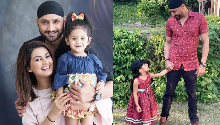 Harbhajan Singh And Geeta Basra's Daughter, Hinaya Twins With 'Daddy Dearest' On His Birthday
