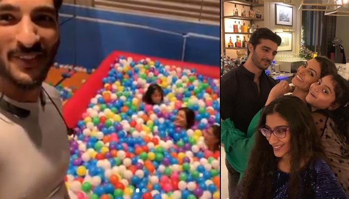 Sushmita Sen And Beau Rohman Shawl Relive Childhood With Her Daughters Renee And Alisah In Ball Pool