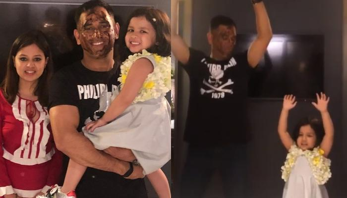 MS Dhoni And Ziva Do A Happy Dance At His 38th Birthday Celebrations [Video Inside]