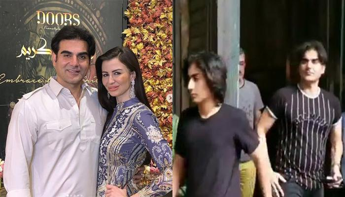 Arbaaz Khan's Awkward Moment With Girlfriend Georgia In Front Of His Son, Arhaan [VIDEO INSIDE]