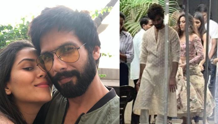 Shahid Kapoor And Mira Rajput Look Stunning In Traditional Outfits For Their First Project Together