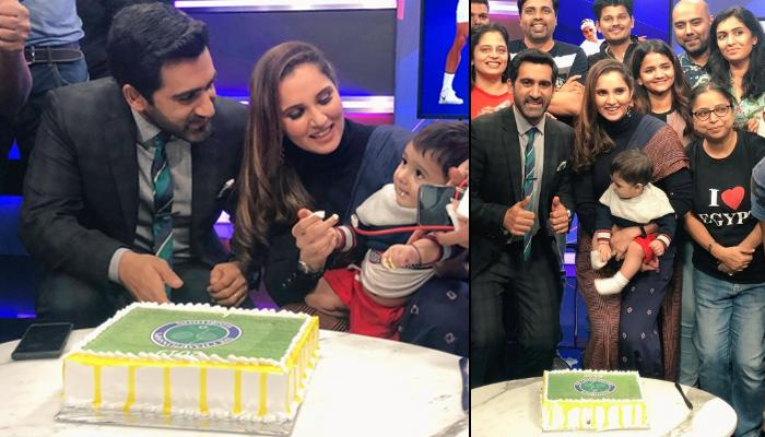 Sania Mirza And Her Son, Izhaan Mirza Malik Mark The End Of Wimbledon 2019 By Relishing A Yummy Cake