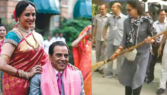 Dharmendra's Epic Reply When A User Asked If Hema Malini Ever Picked Up A Broom At Their Home