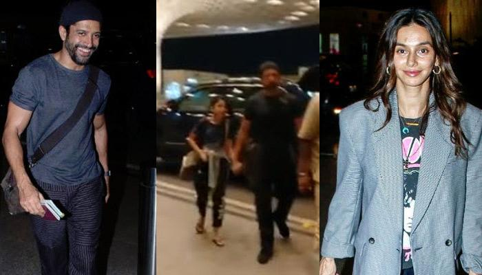 Shibani Dandekar Bonds With Farhan Akhtar's Daughter As They Leave For Vacation Together (Pics)