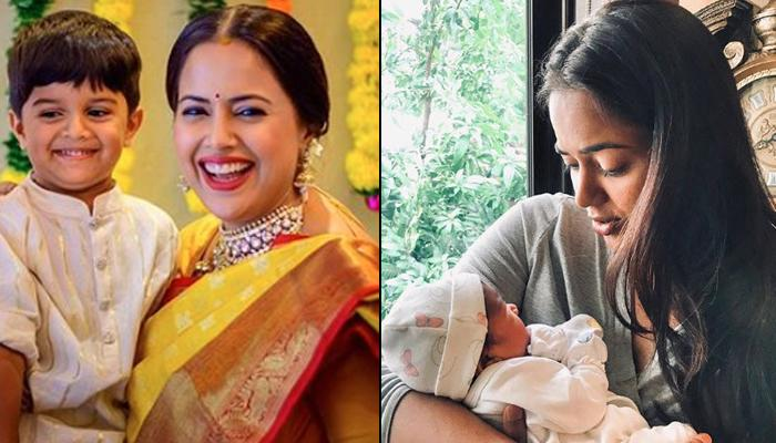 Sameera Reddy's Son Hans Brings His Newborn Sister Home Cuddled In His Arms, It Is A Sight To Behold