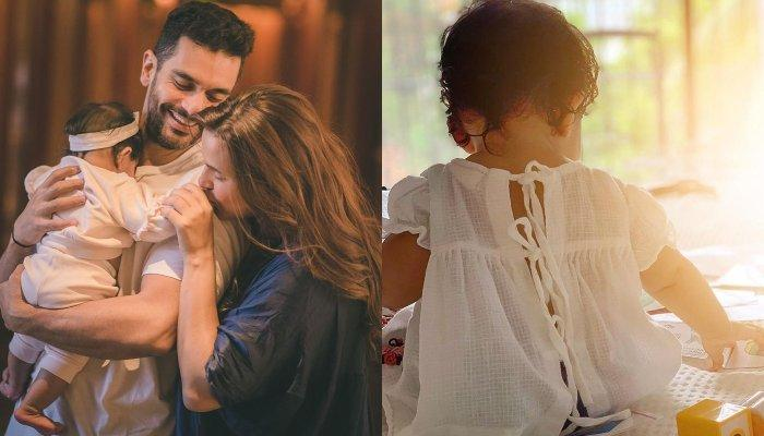 Neha Dhupia And Angad Bedi Post An Adorable Family Moment With Daughter, Mehr On 8-Month Birthday