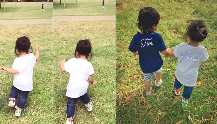 Inaaya Naumi Kemmu Excitedly Runs Towards Her Brother Taimur Ali Khan As They Meet After A Long Time