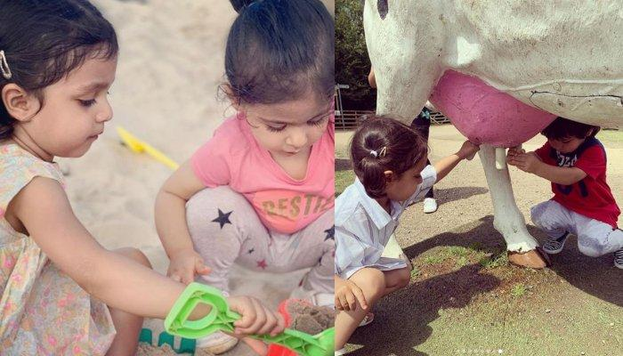 Taimur Ali Khan And Inaaya Naumi Kemmu Chill With Their Moms At A Farm, Special Guest Joins Them