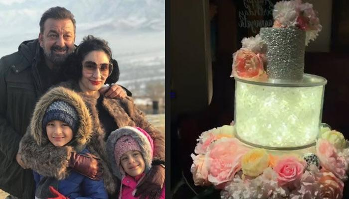 Sanjay Dutt's Wife Maanayata's LED Revolving Birthday Cake Is Royal, Couple Twins At Dinner Date