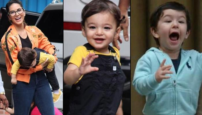 Sunny Leone's Twins, Asher And Noah Run To Wave 'Hi' To Media Leaving Her Hands, Remind Us Of Taimur