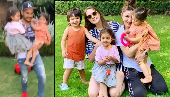 Kunal Kemmu Holds Inaaya Naumi Kemmu In His Arms, Taimur Ali Khan Feels Possessive And Holds His Leg
