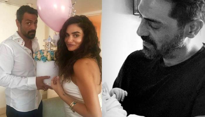 Arjun Rampal And Gabriella's Newborn Son Looks Cute In His Grey Jumpsuit, Mom Shares The Glimpse