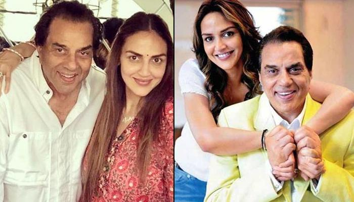 Esha Deol Twins With Dharmendra In White As They Happily Pose For Camera, Give Father-Daughter Goals