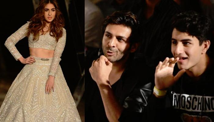 Kartik Aryan Bonds With Sara Ali Khan's Brother Ibrahim As She Makes Her Ramp Debut At ICW2019