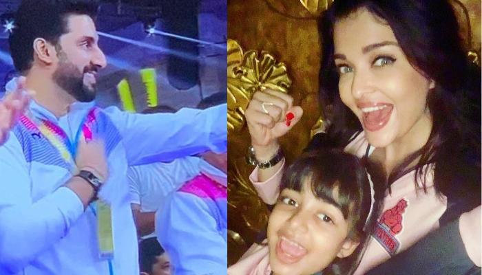 Aishwarya Rai Bachchan And Aaradhya Bachchan Twin To Cheer For Abhishek Bachchan's Kabaddi Team