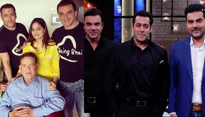 Unseen Pic Of Salman Khan With Arbaaz, Sohail, Alvira, Recreating 'Hum Saath Saath Hain' Moment