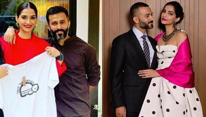 Sonam Kapoor Ahuja Gives A Pleasant Surprise To Anand S Ahuja On His Birthday Last Night [PICTURES]