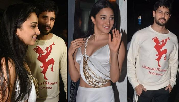 Kiara Advani Twins In White With Rumoured Beau Sidharth Malhotra, Leaves Her Birthday Party With Him