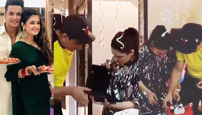 Prince Narula Gifts Yuvika Pendant Sets On Her 1st Birthday Post-Wedding, Her Reaction Is Priceless
