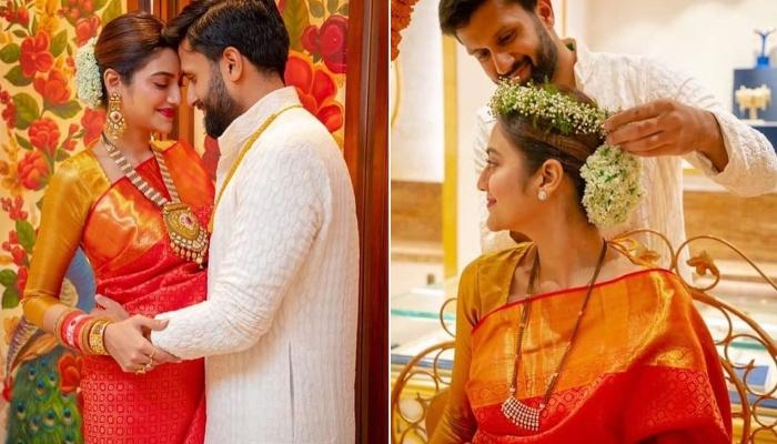 Nusrat Jahan Celebrates First Sindhaara Teej With Hubby Nikhil, Thanks Him For Being There With Her