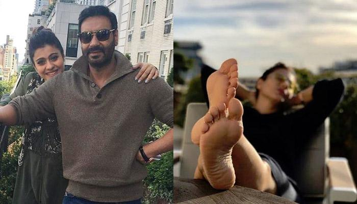 Ajay Devgn Turns Pap For Kajol On Her B'Day And Teases Her For Taking Beauty Sleep, She Gives Back