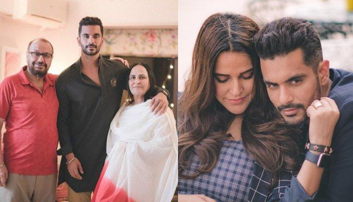 Neha Dhupia's Hubby, Angad Bedi Posts The Most Heart-Warming Anniversary Wish For His In-Laws