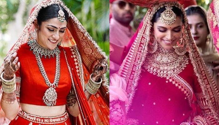 This Bride Wore A Sabyasachi Lehenga That Will Remind You Of Deepika Padukone's Wedding Ensemble