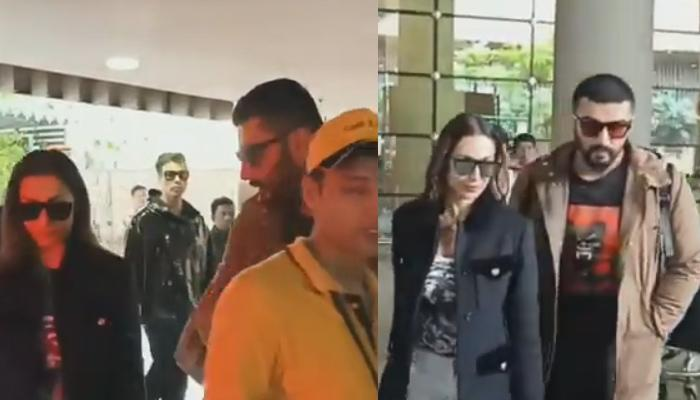 Arjun Kapoor Turns Protective Boyfriend To Malaika Arora When She Was Mobbed By Fans [VIDEO]