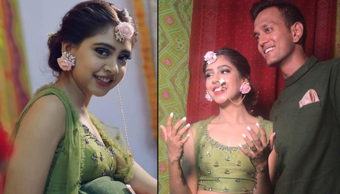 Niti Taylor Twins With Her Soon-To-Be Fiance Parikshit Bawa On Mehendi Ceremony, Pictures And Videos