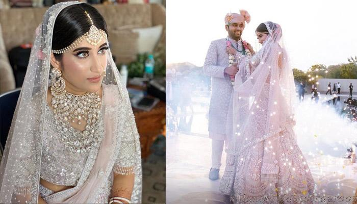 This Bride Not Only Rocked A White Lehenga But Also Wore Matching White Kaleeras On Her Wedding